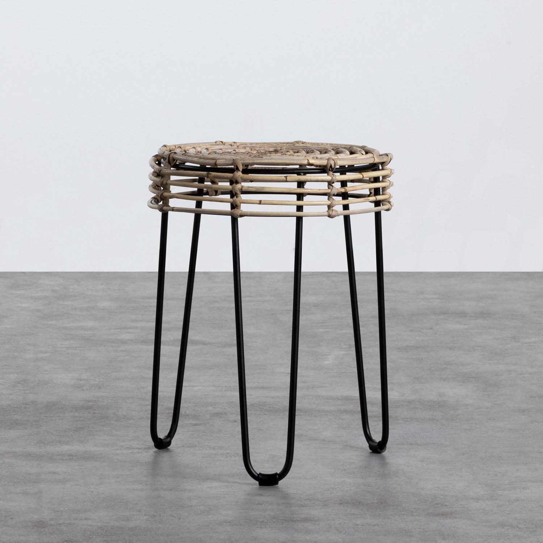 Table d'Appoint/Tabouret bas en Rotin Naturel Kure (Ø35 cm), image de la gelerie 1