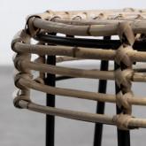 Table d'Appoint/Tabouret bas en Rotin Naturel Kure (Ø35 cm), image miniature 3