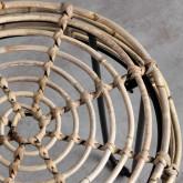 Table d'Appoint/Tabouret bas en Rotin Naturel Kure (Ø35 cm), image miniature 5