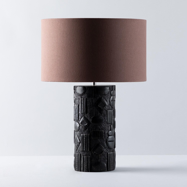 Lampe de Table en Tissu et Bois Nil, image de la gelerie 1