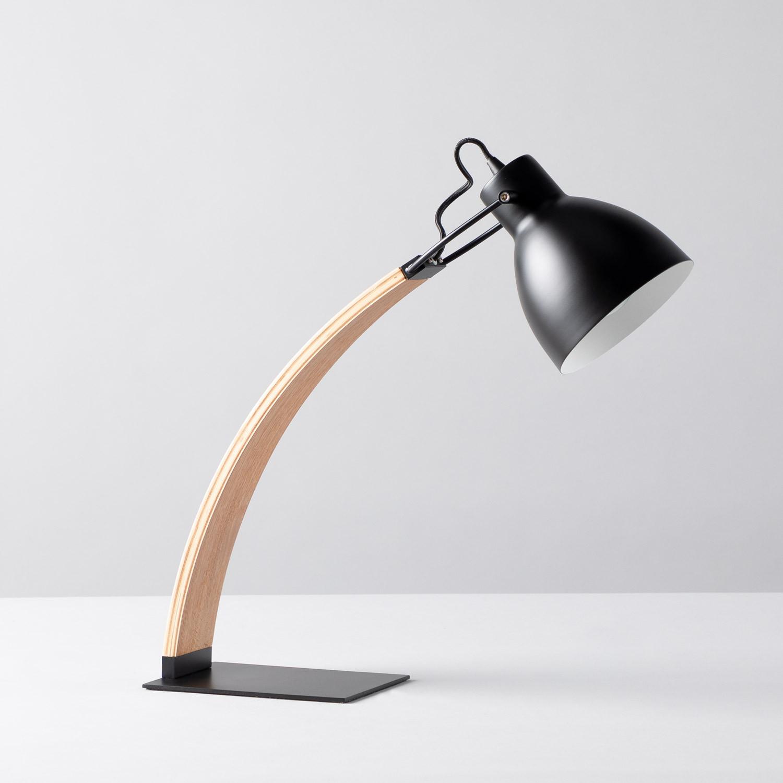 Lampe à Poser en Bois et Métal Arque, image de la gelerie 1