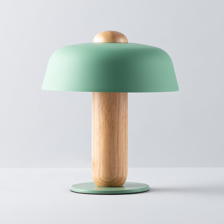 Lampe de Table en Métal et Bois Padden, image de la gelerie 1