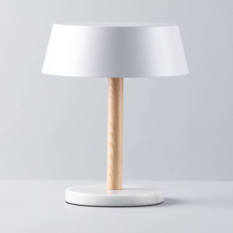 Lampe de Table en Marbre et Bois Chip, image de la gelerie 1