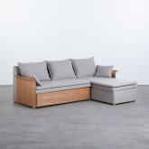 Canapé-lit d'angle à Droite 3 Places en Tissu Nato, image miniature 1