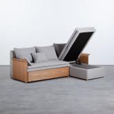 Canapé-lit d'angle à Droite 3 Places en Tissu Nato, image miniature 3