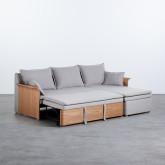 Canapé-lit d'angle à Droite 3 Places en Tissu Nato, image miniature 4