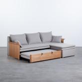 Canapé-lit d'angle à Droite 3 Places en Tissu Nato, image miniature 5