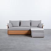Canapé-lit d'angle à Droite 3 Places en Tissu Nato, image miniature 8