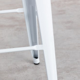 Tabouret Haut avec Dossier en Acier Industriel (76 cm), image miniature 6