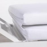 Transat Inclinable en Tissu et Aluminium Kabir, image miniature 12