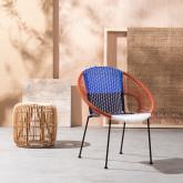 Chaise d'Extérieur en Rotin et Acier Neo, image miniature 2