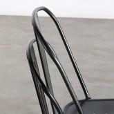Chaise de Salle à manger en Métal Galvanisé Industriel, image miniature 6