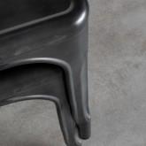 Chaise de Salle à manger en Métal Galvanisé Industriel, image miniature 7