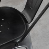 Chaise de Salle à manger en Métal Galvanisé Industriel, image miniature 8