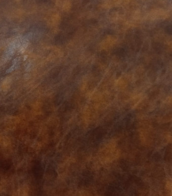 Coussin en similicuir marron
