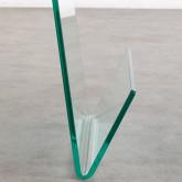 Tavolo Ausiliare Quadrato con Portariviste in Cristallo (50x50cm) Vidra Line, immagine in miniatura 4