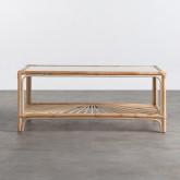 Tavolino Rettangolare in Rattan Naturale (110x60 CM) Klaipe, immagine in miniatura 3