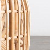 Poltrona con Braccioli in Rattan Naturale e Tessuto Teon, immagine in miniatura 5