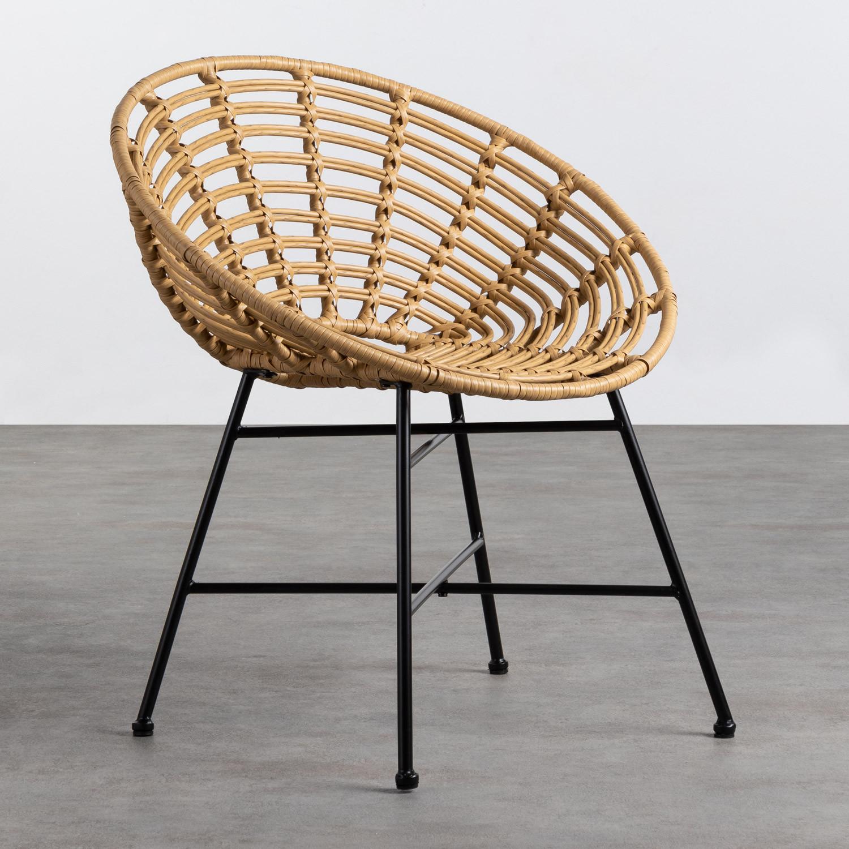 Sedia da Pranzo in Rattan Sintetico Nuler, immagine della galleria 1