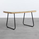Tavolino Rettangolare in Rattan Sintetico e Cristallo (90x50 cm) Balar, immagine in miniatura 1