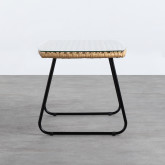 Tavolino Rettangolare in Rattan Sintetico e Cristallo (90x50 cm) Balar, immagine in miniatura 3
