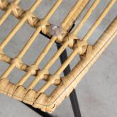 Tavolino Rettangolare in Rattan Sintetico e Cristallo (90x50 cm) Balar, immagine in miniatura 4