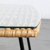 Tavolino Rettangolare in Rattan Sintetico e Cristallo (90x50 cm) Balar, immagine in miniatura 5