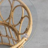 Tavolo Ausiliare Rotondo in Rattan Sintetico (Ø52 cm) Noli, immagine in miniatura 5