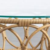 Tavolo Ausiliare Rotondo in Rattan Sintetico (Ø52 cm) Noli, immagine in miniatura 6