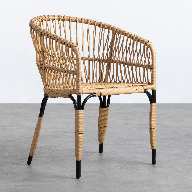 Sedia da Pranzo in Rattan Sintetico Nila, immagine della galleria 1