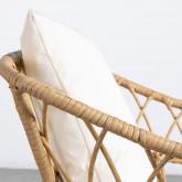 Poltrona con Braccioli in Rattan Sintetico Noli, immagine in miniatura 7
