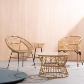 Sedia da Pranzo in Rattan Sintetico Nila, immagine in miniatura 2
