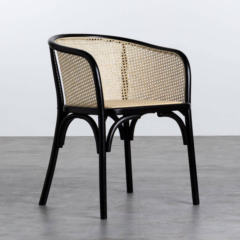Sedia  in Legno e Rattan Naturale Fablem, immagine della galleria 1