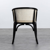 Sedia  in Legno e Rattan Naturale Fablem, immagine in miniatura 4
