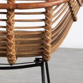 Sedia da Pranzo in Rattan Naturale Bagua, immagine in miniatura 5