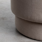 Pouf Rotondo in Tessuto Runor, immagine in miniatura 5