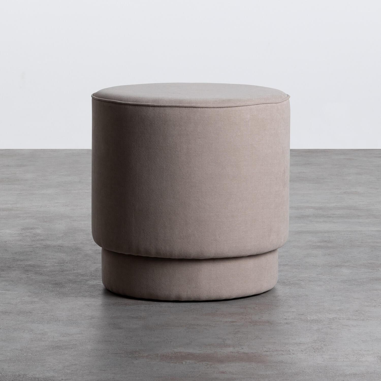 Pouf Rotondo in Tessuto Runor, immagine della galleria 1