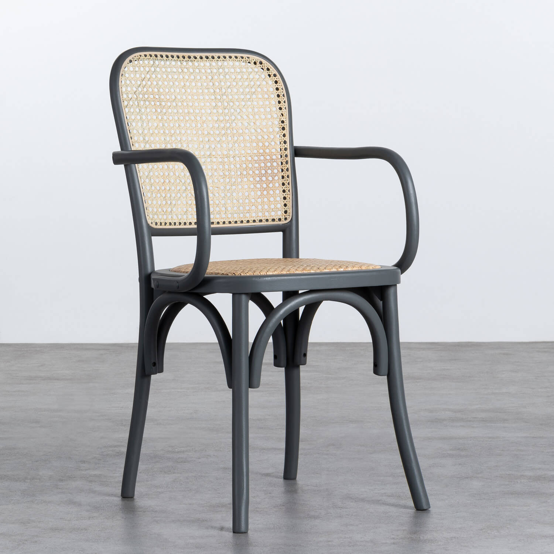 Sedia in Legno e Rattan naturale Buter, immagine della galleria 1