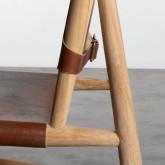 Sedia in Piel e Legno Kove, immagine in miniatura 6