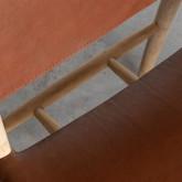 Sedia in Piel e Legno Kove, immagine in miniatura 7