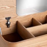 Toilette in MDF con Cassetti e Specchio Tika, immagine in miniatura 9