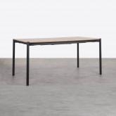 Tavolo da Pranzo Allungabile in MDF e Metallo (160-200x90 cm) Arbo, immagine in miniatura 1