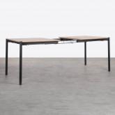 Tavolo da Pranzo Allungabile in MDF e Metallo (160-200x90 cm) Arbo, immagine in miniatura 4
