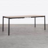 Tavolo da Pranzo Allungabile in MDF e Metallo (160-200x90 cm) Arbo, immagine in miniatura 6