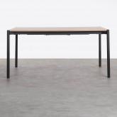 Tavolo da Pranzo Allungabile in MDF e Metallo (160-200x90 cm) Arbo, immagine in miniatura 7