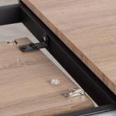 Tavolo da Pranzo Allungabile in MDF e Metallo (160-200x90 cm) Arbo, immagine in miniatura 12