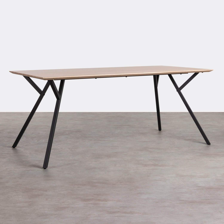 Tavolo da Pranzo Rettangolare in MDF e Metallo (180x90 cm) Solen, immagine della galleria 1