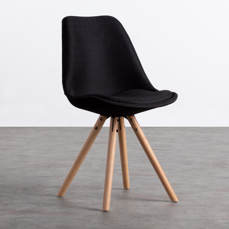 Sedia da Pranzo in Tessuto e Legno Stella Round Total Fabric, immagine della galleria 1