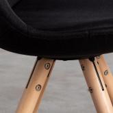 Sedia da Pranzo in Tessuto e Legno Stella Round Total Fabric, immagine in miniatura 5