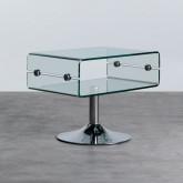 Tavolino da Caffé Rettangolare in Vetro (60x38 cm) Alpay, immagine in miniatura 1
